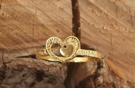 טבעת גולדפילד  לב