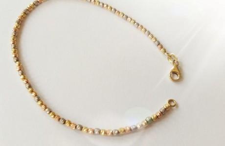 צמיד זהב כדורי לייזר - 19 ס