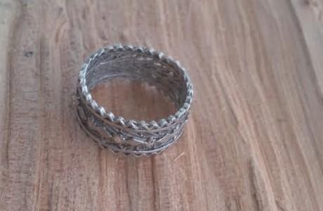 טבעת עבודת יד סגנון תימני