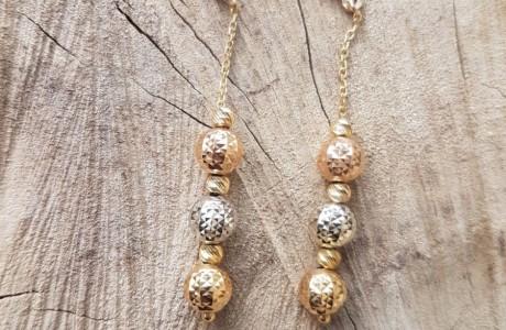 עגילי זהב כדורים