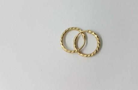 עגילי זהב חישוק - אזל