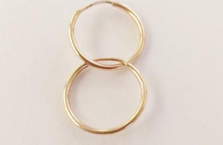 עגילי זהב חישוק - 2.8 ס