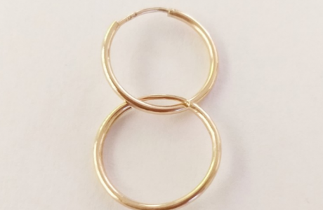 עגילי זהב חישוק - 1.8 ס
