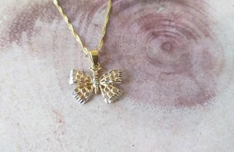 שרשרת זהב פרפר