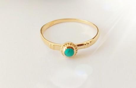 טבעת גולדפילד משובצת אבן טורקיז
